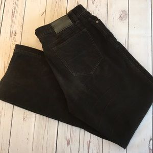 Calvin Klein Brown Straight Leg Corduroy Pants